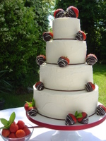 Strawberry chocolate cheap professional wedding cake maker london